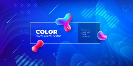 Conception de fond de couleur liquide. Composition de formes de dégradé fluide. Affiches de conception futuriste.