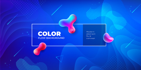 Liquid color background design. Fluid gradient shapes composition. Futuristic design posters.