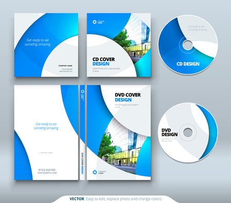 CD envelope, DVD case design. Business template for CD envelope and DVD disc case