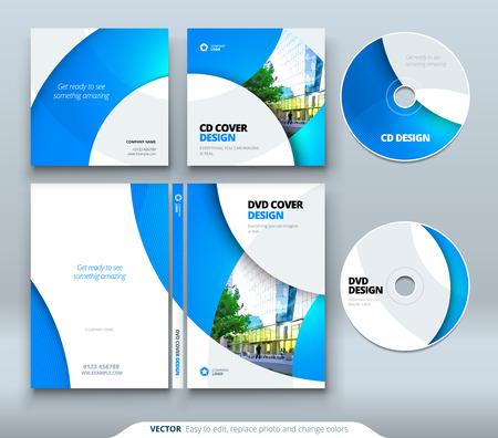 CD envelope, DVD case design. Business template for CD envelope and DVD disc case