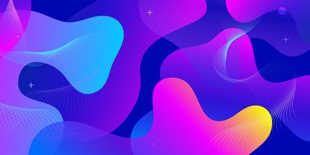 Conception de fond dégradé de couleur. Abstrait géométrique avec des formes liquides. Design de fond cool pour les affiches. Illustration vectorielle EPS10