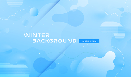 Diseño de fondo geométrico colorido. Composición de formas fluidas azules con degradados de moda. Vector Eps10 Ilustración de vector