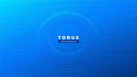 Abstract torus or a tunnel, the black hole, the curvature of space. Fantastic futuristic object of luminous lines and glare. Background for your design.