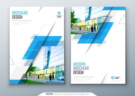 Diseño de plantilla de folleto. Informe anual de negocios corporativos, catálogo, revista, maqueta de volante. Concepto brillante moderno creativo con forma de rombo