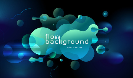 Colorful geometric background design. Fluid shapes composition with trendy gradients. Eps10 vector Standard-Bild - 122893802