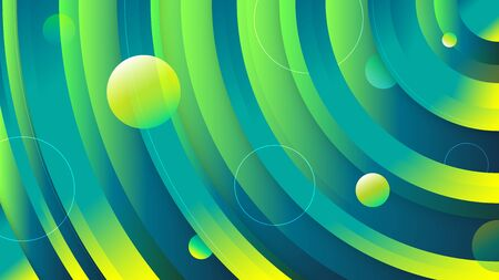 Circle gradient background. Fluid gradient circled shapes composition. Futuristic design posters. Eps10 vector.