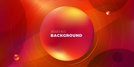 Red Horizontal Liquid Color Background Design. Fluid Gradient Minimal Shapes Composition. Futuristic Design for Posters. Eps10 vector.