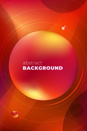Red Vertical Liquid Color Background Design. Fluid Gradient Banner with Minimal Shapes Composition. Futuristic Design for Posters. Eps10 vector. Illusztráció