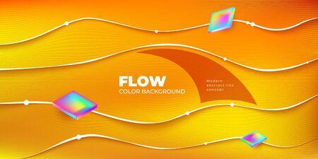 Liquid Line color background design. Fluid Line gradient shapes composition. Futuristic design posters. Eps10 vector