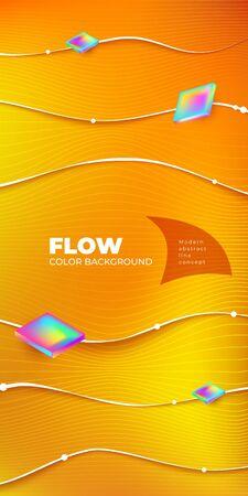 Liquid Line color background design. Fluid Line gradient shapes composition. Futuristic design posters. Eps10 vector. 矢量图像