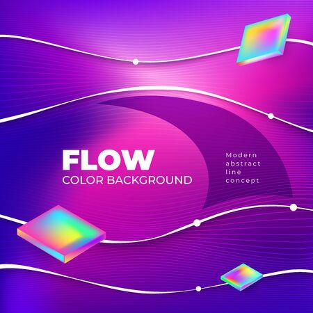 Liquid color background design. Square Fluid gradient shapes composition. Futuristic design posters. Eps10 vector.