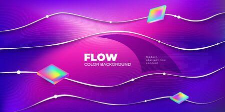 Liquid color background design. Fluid gradient shapes composition. Futuristic design posters. Eps10 vector 矢量图像