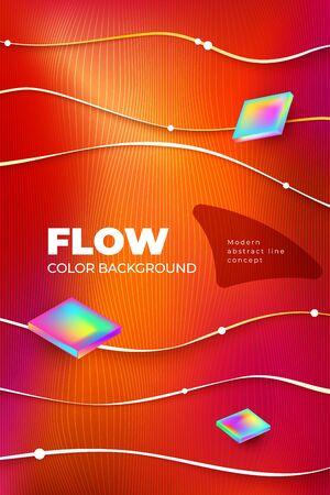 Liquid Line color background design. Vertical Fluid Line gradient shapes composition. Futuristic design posters. Eps10 vector 矢量图像