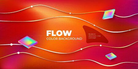 Liquid Line color background design. Horizontal Fluid Line gradient shapes composition. Futuristic design posters. Eps10 vector