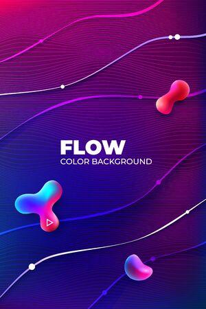 Liquid color background design. Fluid gradient shapes composition. Futuristic Design Banner for Social Network