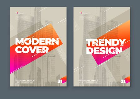 Soft Brochure Design Cover Template for Brochure, Catalog, Layout with Color Shapes. Modern Vector illustration Brochure Concept in Dark Colors.
