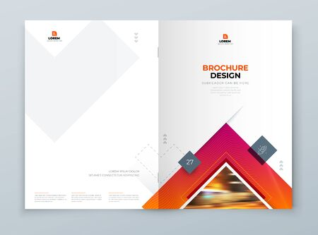 Brochure Cover Background Design. Corporate Template Layout for Business Annual Report, Catalog, Magazine or Flyer Mockup. Creative Concept with Square Rhombus Shapes. Vector Background. Set - GB075 矢量图像