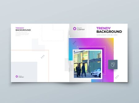Brochure Cover Background Design. Modern Brochure Concept with Square Rhombus Shapes. Vector Background. Set - GB075. 矢量图像