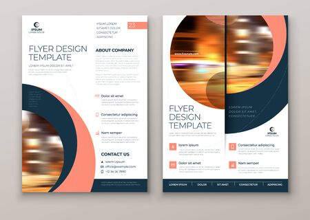 Flyer with minimal geometric design. Modern abstract background for Brochure, Placard, Poster, Flyer, Banner etc. vector flyer template. Vector Illustration