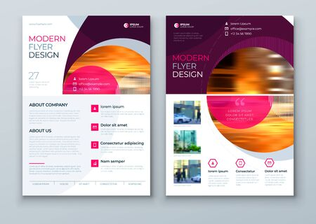 Flyer with minimal geometric design. Modern abstract background for Brochure, Placard, Poster, Flyer, Banner etc. vector flyer template. Ilustracje wektorowe