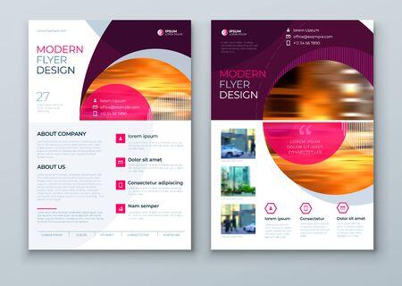 Flyer with minimal geometric design. Modern abstract background for Brochure, Placard, Poster, Flyer, Banner etc. vector flyer template. Vektorgrafik