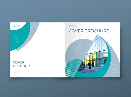 Square Cover with minimal teal geometric design. Modern abstract background for Square Brochure, Placard, Report, Poster, Flyer, Banner etc. vector template.