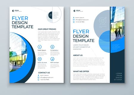 Flyer with minimal geometric design. Modern abstract background for Brochure, Placard, Poster, Flyer, Banner etc.  vector flyer template.