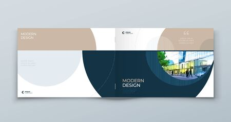 Landscape Cover with minimal luxury geometric design. Modern abstract background for Horizontal Brochure, Placard, Report, Poster, Flyer, Banner etc.  vector template.