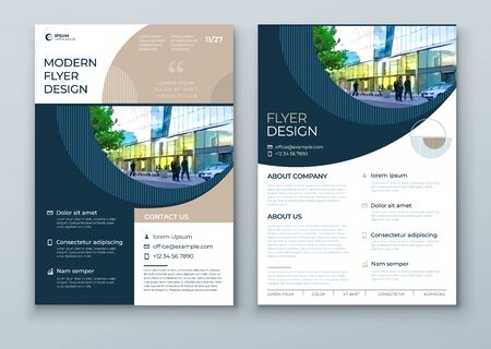 Flyer with minimal geometric design. Modern abstract background for Brochure, Placard, Poster, Flyer, Banner etc. vector flyer template. Vettoriali