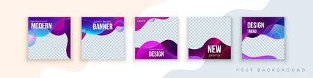 Liquid abstract banner design. Fluid Vector shaped background. Modern Graphic Template Banner pattern for social media stories and insta post.