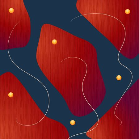Creative minimalist hand drawn abstract illustration. Modern abstract shapes in contemporary style for social banner background, stories post, postcard, flyer or brochure design Vettoriali