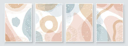 Soft earth tones color. Art Abstract Background. Painting, pink art, modern pastel watercolor paint, watercolour pattern for wall framed prints, canvas prints, poster, home decor Иллюстрация