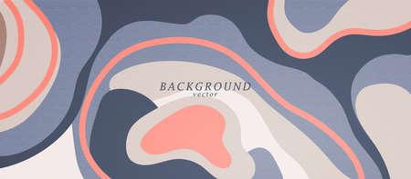 Liquid color abstract background design art. Fluid gradient shapes composition. Bohemian design posters. Eps10 vector.