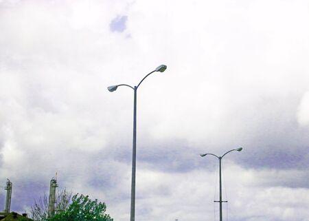 CLOUDY SKIES IN LAPORTE TEXAS Standard-Bild - 81337850