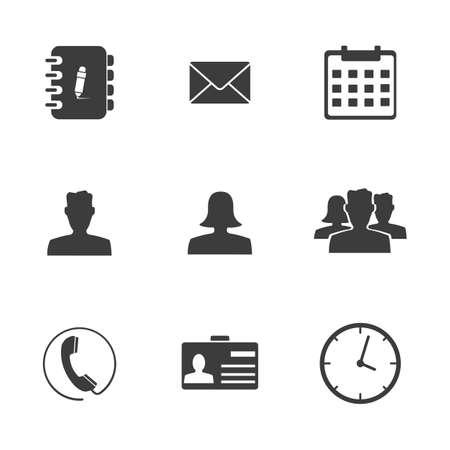 typing machine: Office set icons. Illustration