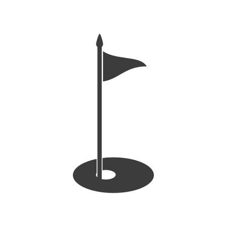 Golf flag icon. Golf flag Vector isolated on white background. Vettoriali
