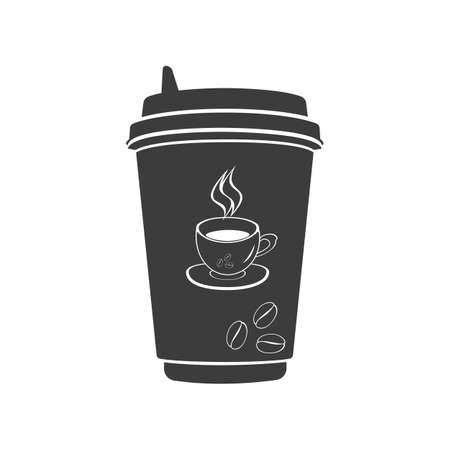 out of use: Coffee to go icon. Coffee to go Vector isolated on white background.