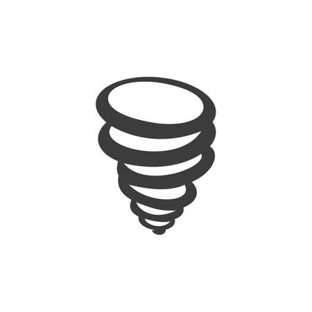 calamity: Tornado icon. Tornado Vector isolated on white background. Illustration