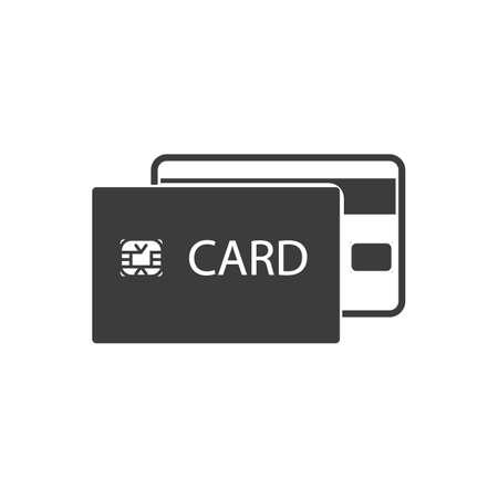 credit card icon: Credit card icon. Credit card Vector isolated on white background.