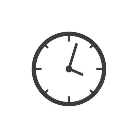 icono del reloj. Reloj del vector aislado en el fondo blanco.