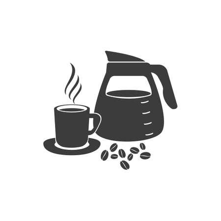 coffee icon: Pouring coffee icon. Pouring coffee Vector isolated on white background. Illustration
