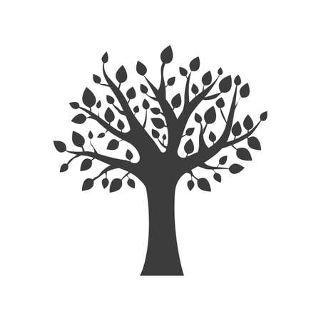 forestation: Tree icon. Tree Vector isolated on white background.