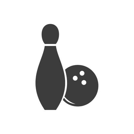 bowling alley: Bowling icon. Bowling Vector isolated on white background. Illustration