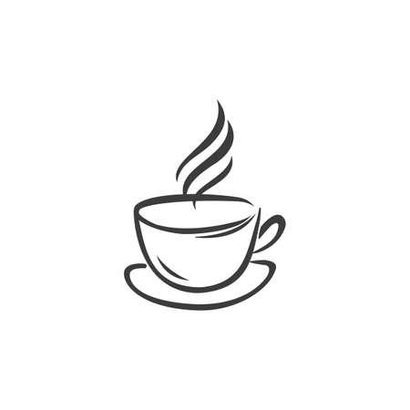 Icona del berretto da caffè. Vettore del cappuccio del caffè isolato su fondo bianco.