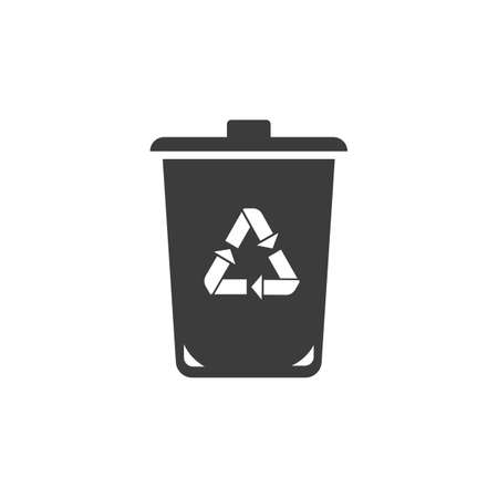 trashcan: Trashcan icon. Trashcan Vector isolated on white background. Illustration