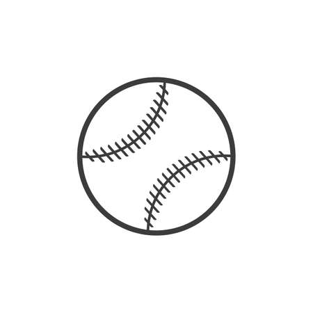 pitching: Baseball ball icon. Baseball ball Vector isolated on white background.
