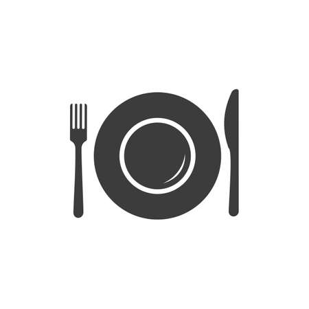 plate: Plate icon. Plate Vector isolated on white background. Illustration