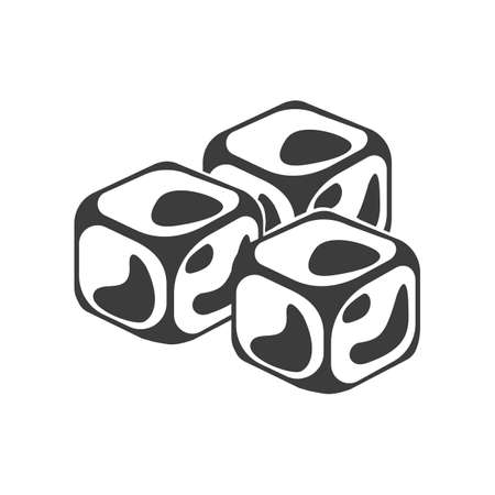 Ice cube icon. Ice cube Vector isolated on white background. Flat vector illustration in black. EPS 10 Stock Photo