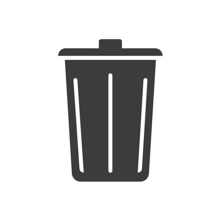 trashcan: trashcan icon Stock Photo