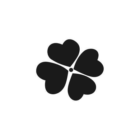 clover leaf shape: Leaf clover icon.